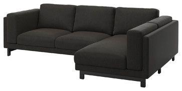 NOCKEBY Two-seat sofa w chaise longue right - traditional - Corner Sofas - Ikea UK