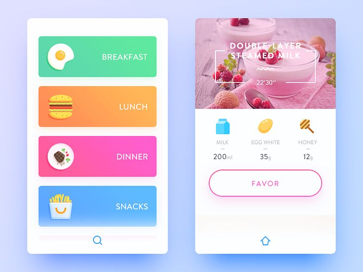 """Great use of bright colors with """"polished"""" icons for panels or cards"""