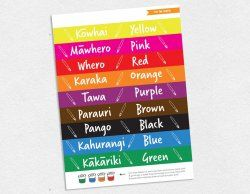 Colour labels for paint pots