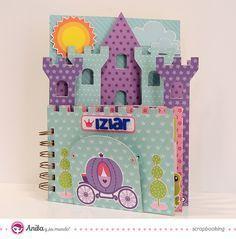 Como hacer un Mini album scrapbook con formato de castillo.  #papercraft #scrap…