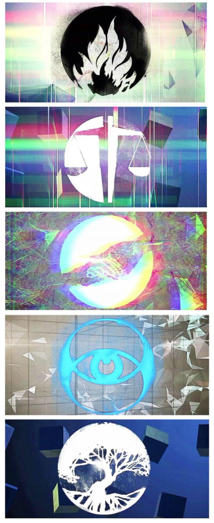 "Faction symbols from ""Find You"" lyric video ~Divergent~ ~Insurgent~ ~Allegiant~"