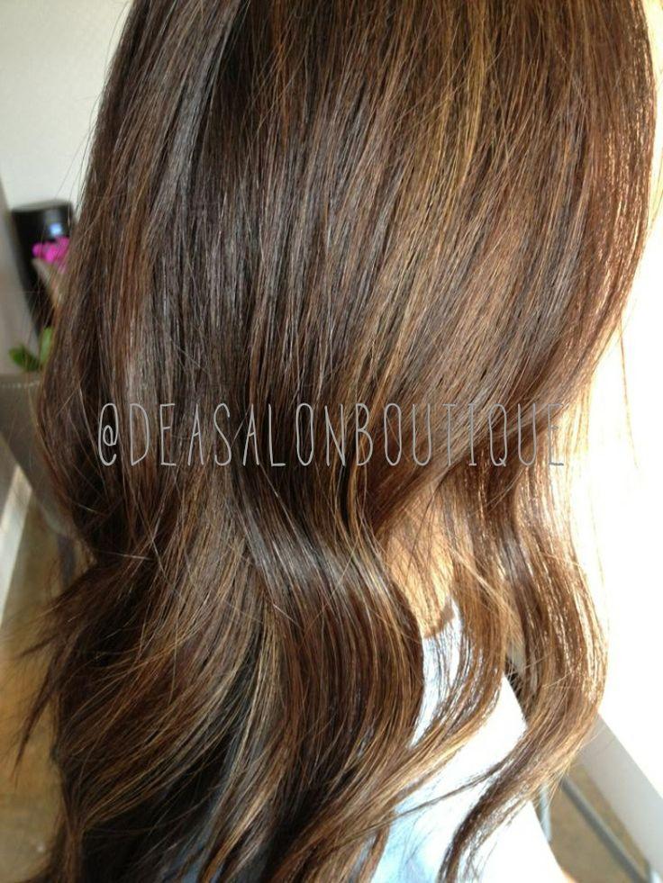 Mocha hair color by Christine #brunette #longcut #Inoa #lorealprous #deasalonboutique #haircolor #balayage #mocha