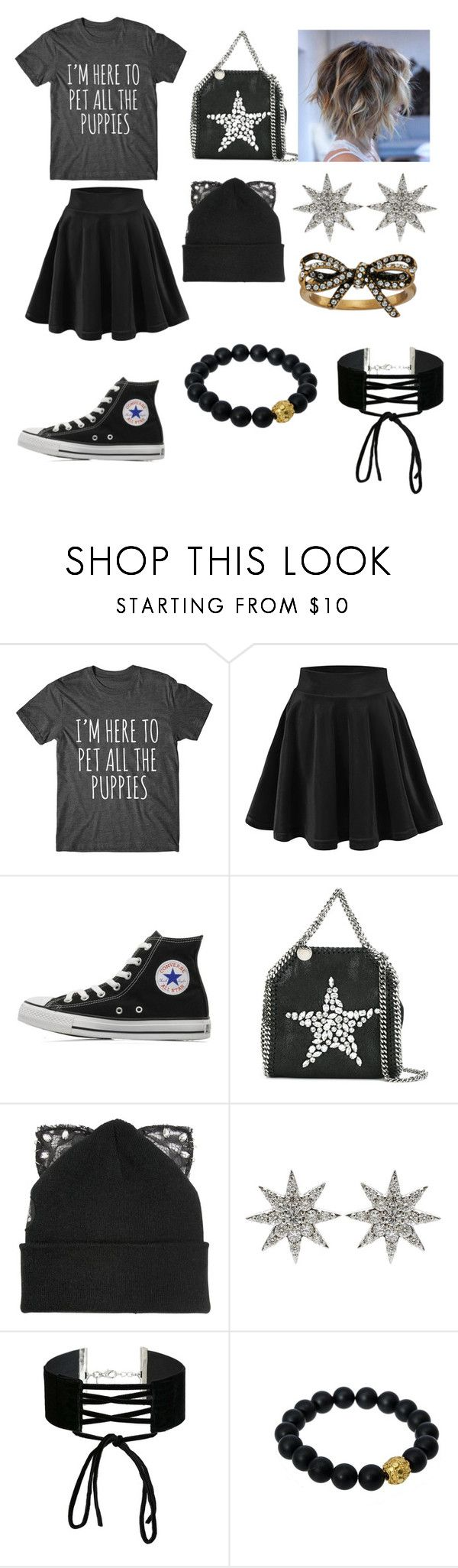 """pet store trip"" by bambihood ❤ liked on Polyvore featuring Converse, STELLA McCARTNEY, Silver Spoon Attire, Bee Goddess, Miss Selfridge, Berluti and Marc Jacobs"