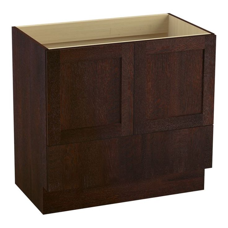 "Kohler K-99532-TK Poplin 36"" Vanity Cabinet Only - Toe Kick Installation Type Woolen Oak Fixture Vanity Single"