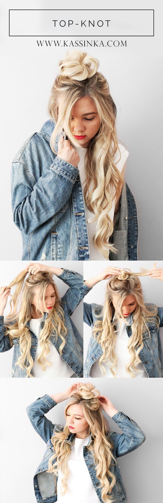 Don't want to commit to a full updo? Try half up and half down for a casual look. I created this hair tutorial to help you always feel your best & look amazing. Read the steps below and then let me kn