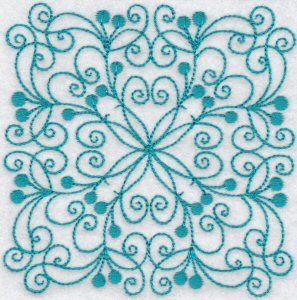 Bunnycup Embroidery | Free Machine Embroidery Designs | Wavy Quilt Blocks Redwork