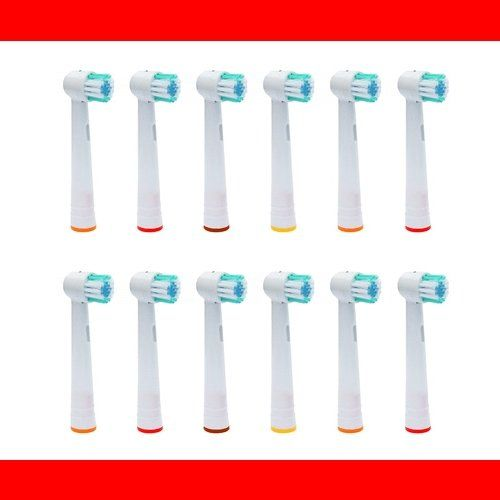 12 PCS. Compatible Tooth-brush Heads, spare brushes, Replacement Brush Head for --- ALL --- Braun ORAL-B electric toothbrushes with rotating brush head, compatible with Oral B Triumph, Vitality, ProWhite, Sensitive + Clean, White + Clean, Professional Care, Precision Clean, SmartSeries, Black, Center, Oxyjet, Center, TriZone, Advance Power, Advance Power Kids, Stages Power, Precision Clean, Dual Clean, Pro Health, Plak Control, 3D Excel, Interclean IC2522, ID2021, ID2025, ID2025T, OralB Typ…