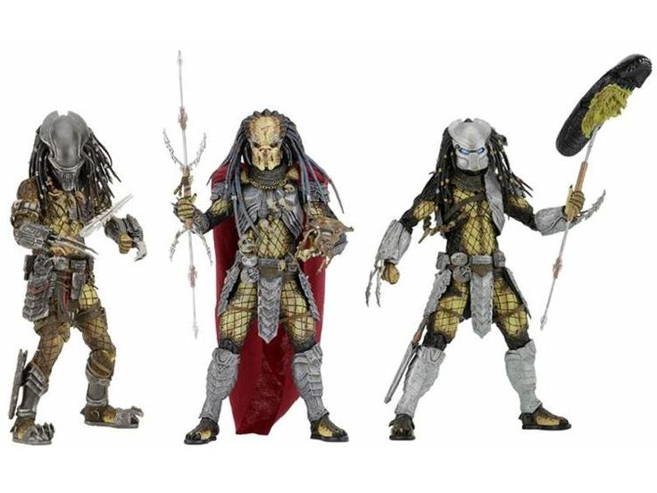 "Predators 7"" Figure Series 17 - Set of 3 -  Predators (2010 Movie) Figures"