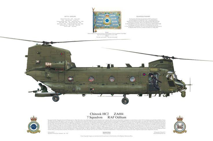 chinook hc2  7 squadron  raf odiham