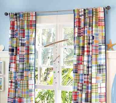 Fun curtains from pottery barn kids.