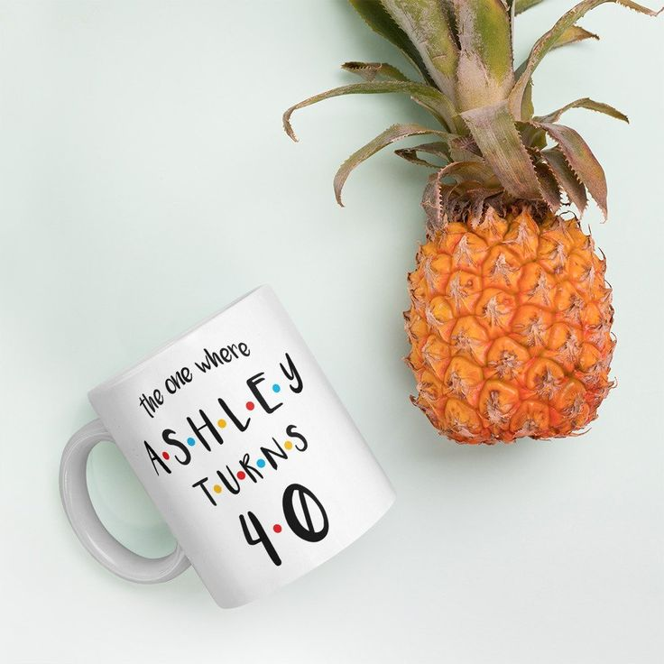 The One Where Turns XX | Personalised Mug Name and Age | Happy Birthday | Friends TV Show Inspired Mug | Friends Mug | Funny Mug