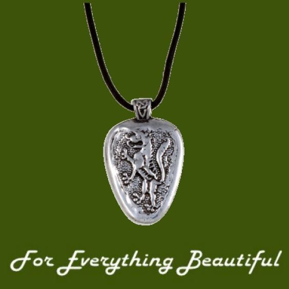 Plantagenet Lion Magna Carta Wax Cord Stylish Pewter Pendant
