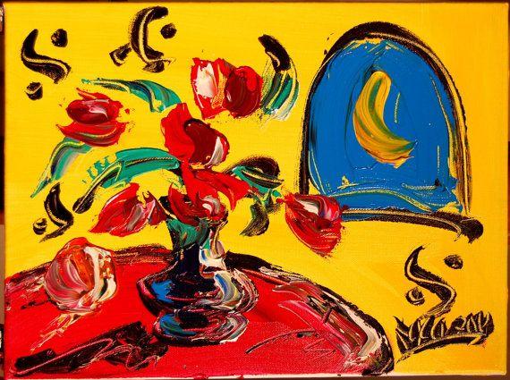 TULIPS  original oil painting by Mark Kazav on by kazavart on Etsy