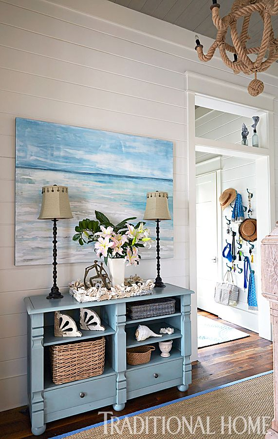 WaterColor Spacious Home with Blue Seaside Palette | Traditional Home.