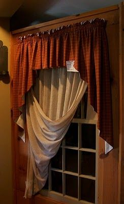 Love This Idea For Window Treatments, Circa 1892 Homestead Primitives By  Carolmay. Find This Pin And More On Primitive Curtains ...
