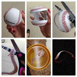 How to make a bracelet from a baseball!  Step by step instructions with photos!