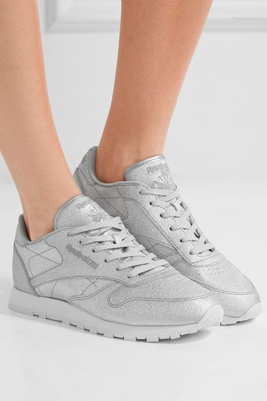 Reebok - Classic Metallic Leather Sneakers - Silver