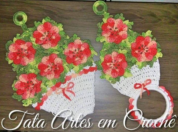 50 best Toalleros a Crochet images on Pinterest   Paños de cocina ...