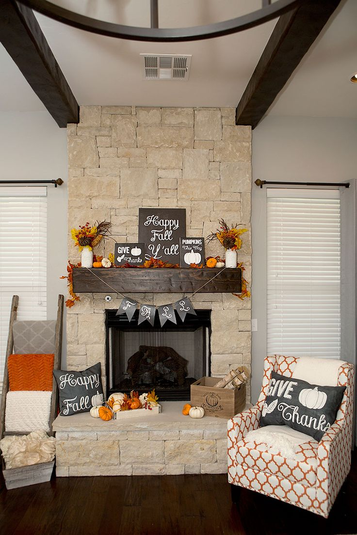 Fall Mantel Decorations, 3 Ways | Hoopla Events | Krista O'Byrne