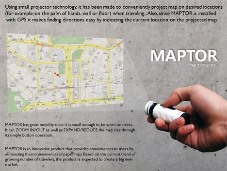 MAPTOR: Map Meets Pico Projector   ... see more at InventorSpot.com