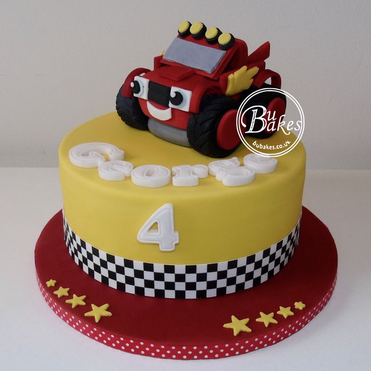 Blaze And The Monster Machines Themed Cake By Bubakes.co