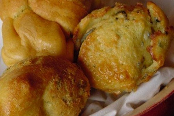 Savory cheese popovers... One of my favorite childhood memories involved eating my first cheese popover at a gorgeous open-air restaurant, surrounded by parrots. It's a bizarre memory, but I've always wanted to re-create the popover.