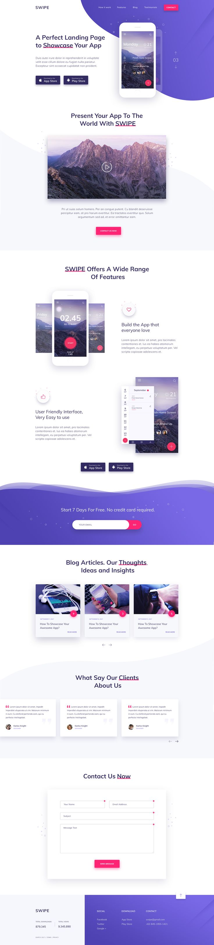 A Perfect Landing Page to Showcase Your App