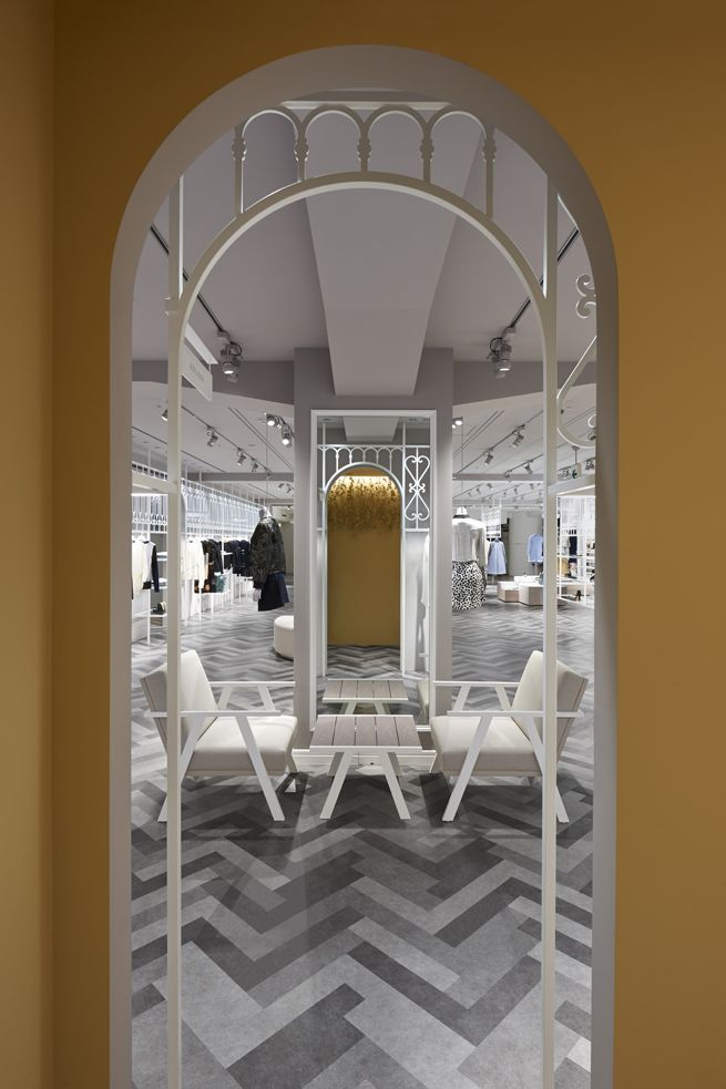 Compolux women's luxury clothing shop in Seibu Shibuya in Tokyo by Nendo