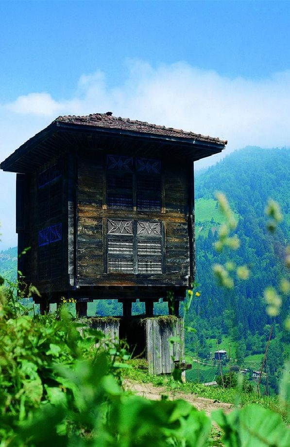 Black Sea Region Traditional Wood-Log Houses