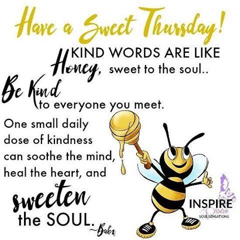 Have a sweet Thursday #bekind #thankfulthursday #forgiveness #attitude…