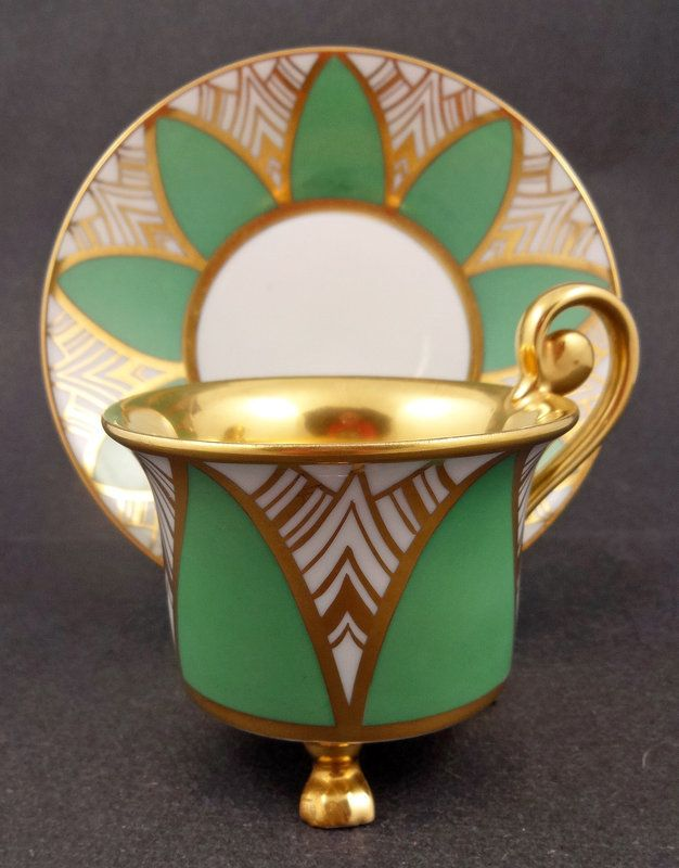 Distinctive Art Deco Rosenthal tea cup and saucer.   www.teapots4u.com   www.brainbrews.com
