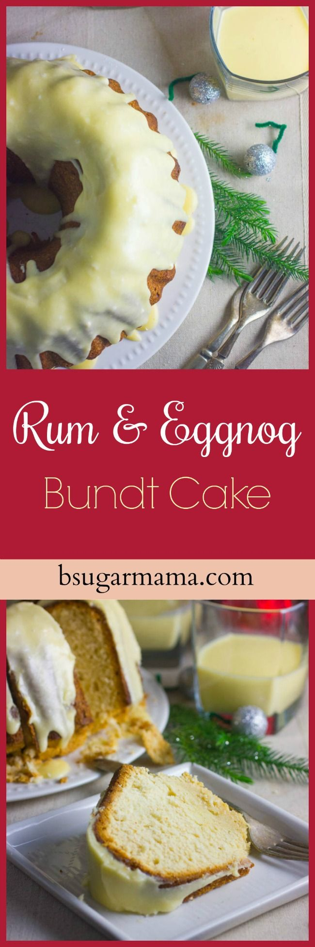 This Rum and Eggnog Bundt Cake is a perfect cake recipe for your holidays! Topped with a eggnog and rum glaze, this will make you fall in love with the holidays.