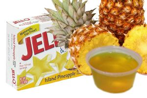 Pineapple jello and rum