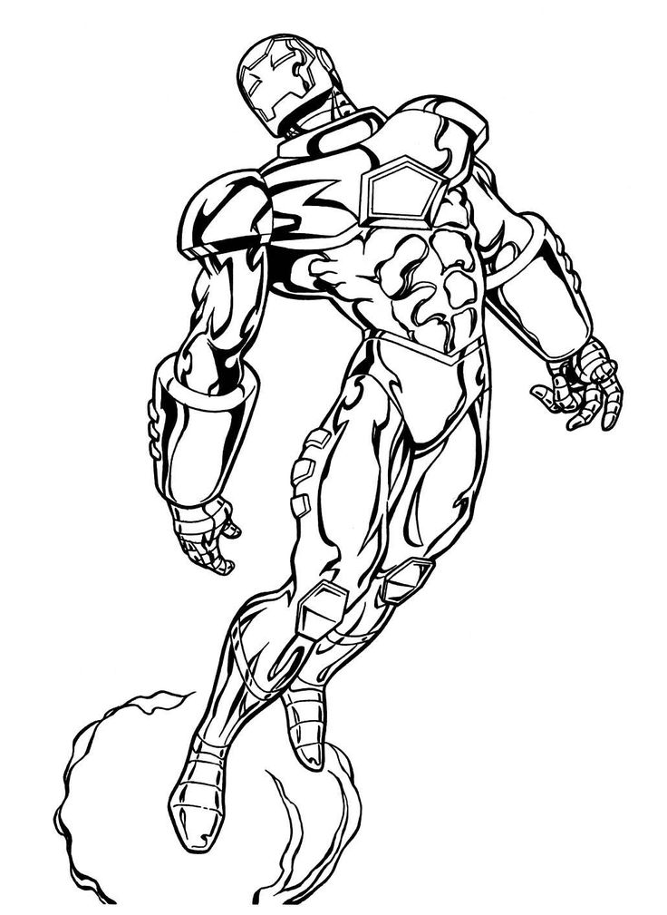 Marvel superheroes coloring pages