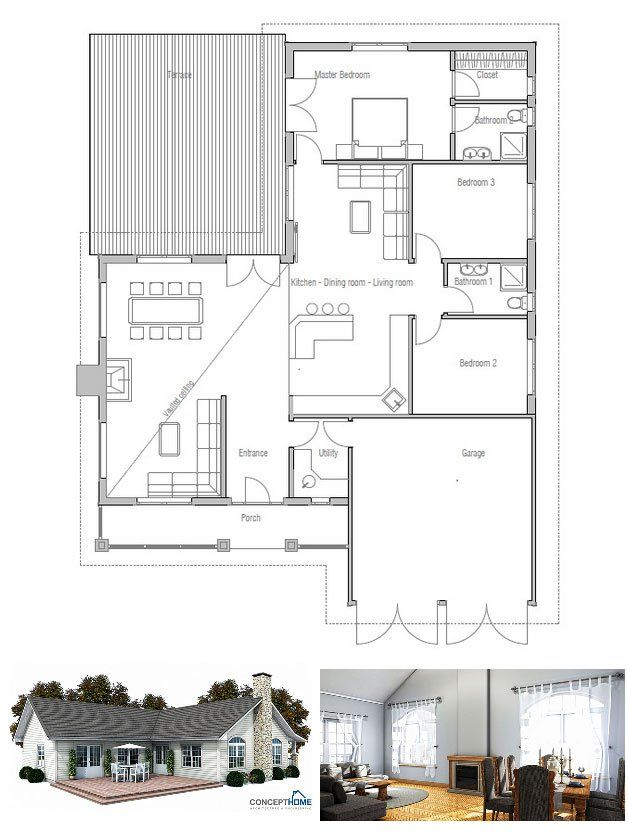 9 best images about classical house designs on pinterest for Vaulted ceiling floor plans