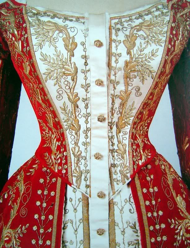 Russian court dress designed by Olga Nikolaevna Bulbenkova (1835-1918), and would have be made in the late 19thC/early 20thC