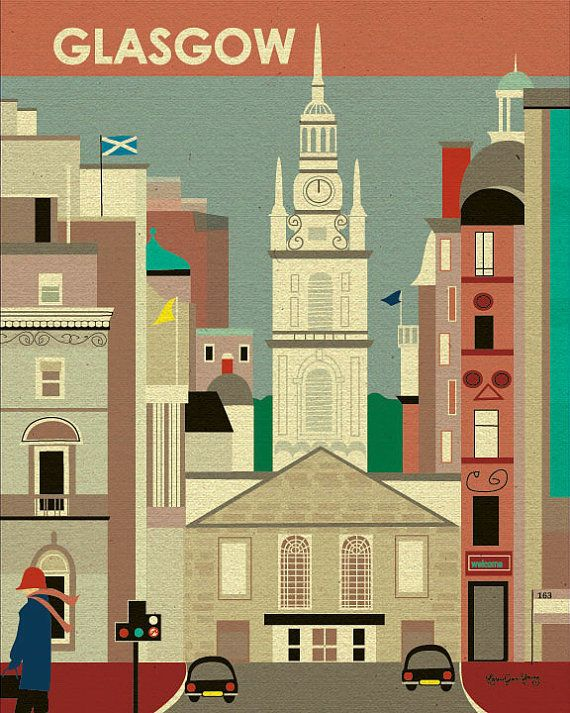 I need this - my favorite city. <3 Glasgow Scotland Scene  St. George's Trons Church by loosepetals, $27.00
