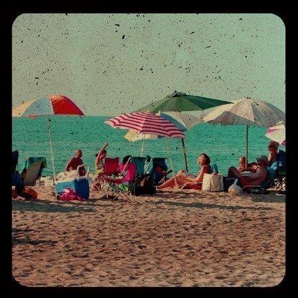 Ttv Beach Photograph  Umbrellas and Sand Print  by ellemoss, $30.00