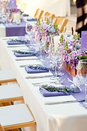 When it comes to wedding color palettes, there are so many amazing options to choose for your big day.  Now that summer is in full swing, we are loving the romantic and ethereal feel of lavender. It is one of those colors that instantly brightens up a room and smells great too!  So, grab a seat and get lost in these 25 gorgeous photos of lavender wonder.