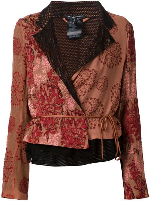 Ann Demeulemeester Embroidered Wrap Jacket - Dolci Trame - Farfetch.com
