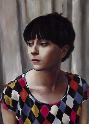 Self portrait - harlequin by Heidi Yardley. Archibald Prize finalist, 2013