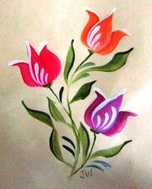 Brushstroke Basics Course - Basic Tulips