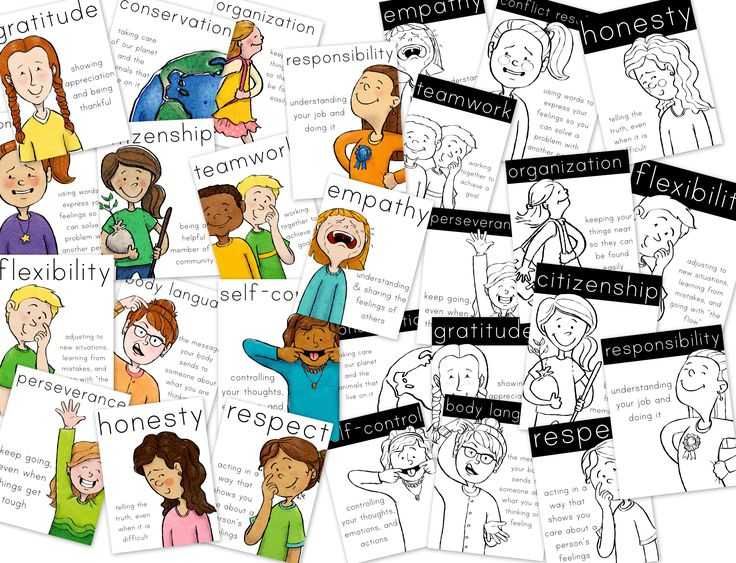 Character Education Posters - empathy, honesty, respect, and much, much more!