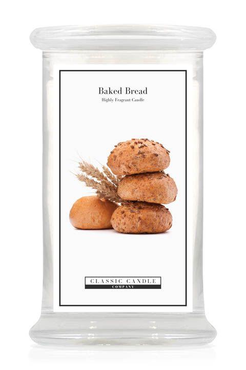 Geuromschrijving van Classic Candle Baked Bread: De onmiskenbare geur van vers, warm gebakken brood dat zo uit de oven komt met heerlijke zachte tonen van romige boter, om van te watertanden!Large JarDe Classic Candle Large Jars hebben een brandtijd van circa 135 uur.Denkt u eraan om de lont kort (3 mm) te houden, hierdoor gaat de Classic Candle Large Jar niet walmen en gaat hij langer mee!