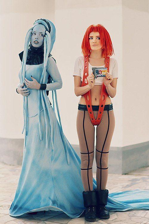 Leeloo & Plava Laguna (The Fifth Element) #cosplay by Tanuki-Tinka-Asai.deviantart.com