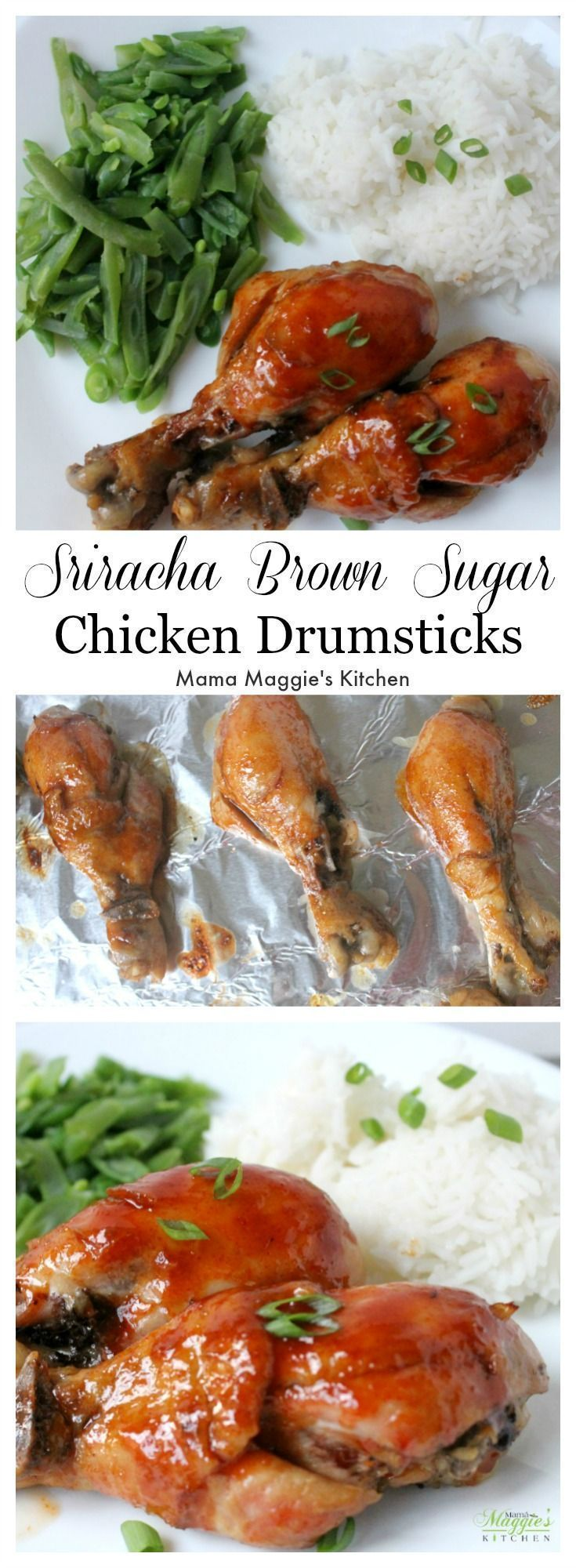Sriracha Brown Sugar Chicken Drumsticks brings new meaning to yummy, fresh comfort food in a sweet and spicy way.