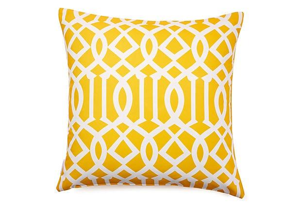 Variance 20x20 Outdoor Pillow, Yellow on OneKingsLane.com