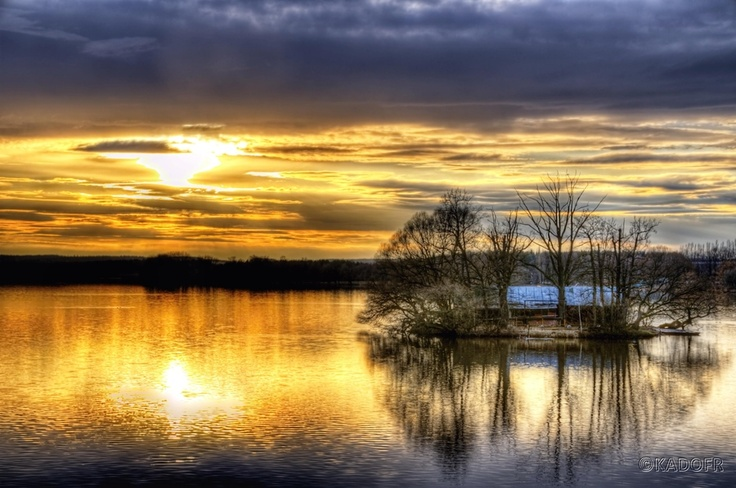 "The sunset on the pond ""the world"" - in Trebon by Karel Dobes, via 500px"