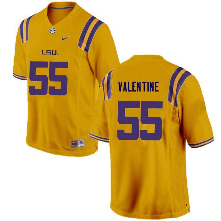 Men lsu tigers 55 travonte valentine college football