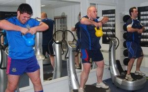 Welsh Rugby Team Using Vibration Plates Workout